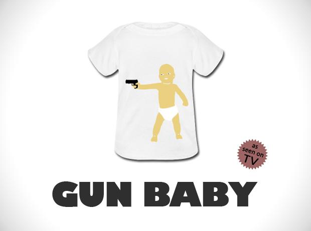 gun baby tshirt