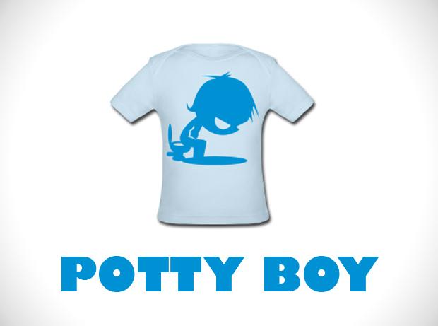 potty boy babys tshirt