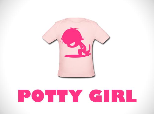 potty girl teeshirt